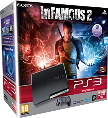 Sony PlayStation 3 Console (320GB Model) with inFAMOUS 2 (PS3)