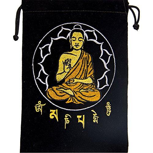 Kheops Black Velve Buddha Tarot Card Bag