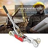 Cabestrantes manuales,Cuerda de alambre Trinquete Mano Extractor de energía Herramienta de apriete Mini tensor Herramienta de elevación de doble gancho(4T)
