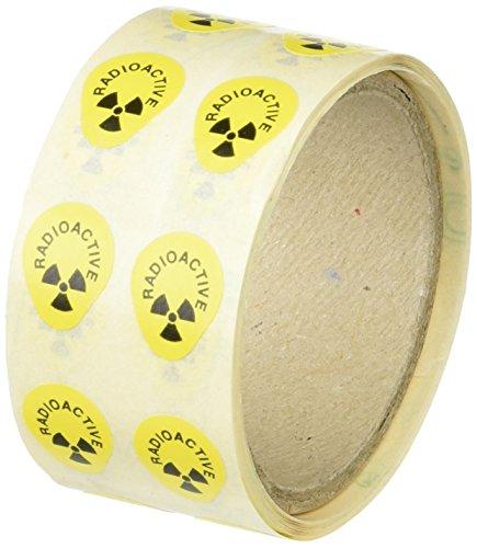 Neolab 1 9091 - Etiquetas de advertencia radiactiva (250 unidades)