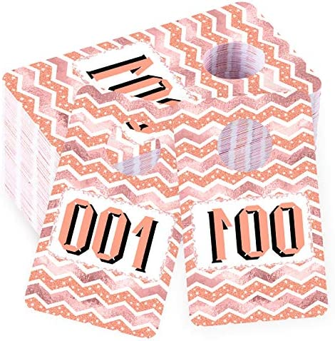 Whaline Live Number Tags 2 x 3 Inch Large Tag Numbers Reusable Normal and Reverse Mirror Hanger product image