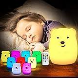 TOPERSUN LED Nachtlicht Kinder 9 Farben Fernbedienung Nachtlampe Baby Nachtleuchte