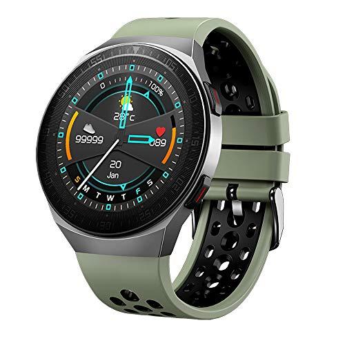 LRHD 8 g Memory Music Player Smart Watch Llamada Bluetooth Monitoreo de Ritmo cardíaco Impermeable SmartWatch 260mAh Batería Fuerte Puerta Inteligente Pulsera Smartwatch Compatible con iOS, Android
