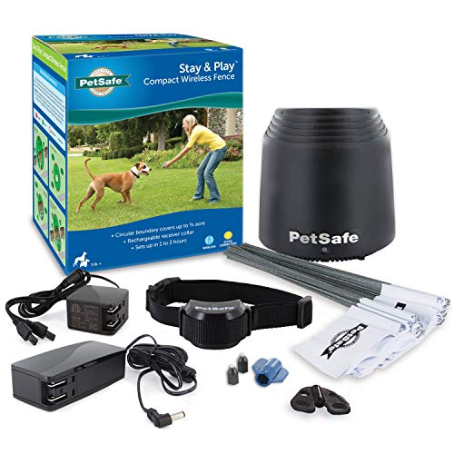 PetSafe Stay & Play Compact Wireless Fence for Dogs and Cats – from the Parent Company of...