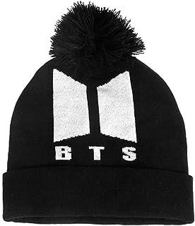 2697fa09c777e YJQ Unisex Kpop BTS Knitted Hat BTS Bangtan Boys Winter Pompom Beanie Hat  for Men Women