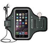 JEMACHE Brazalete para iPhone 6/6S/7/8 Plus, Dactilares Touch Apoyo Exclusivo Running Pasear Ejercicio Gimnasio Deportivo Brazo Banda Armband para iPhone 6/6S/7/8 Plus (Gris)