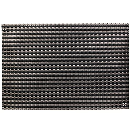 Juego de 2 manteles individuales de PVC malla, color gris y negro