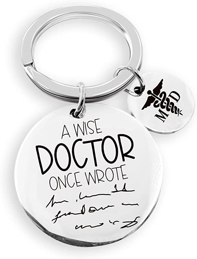 Medical Doctor Gifts for Women Men Wise Key Sales Wrote a Once unisex