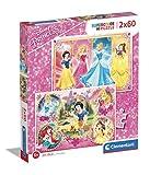 Clementoni-Clementoni-07133-Supercolor Collection-Princess-2 x 60 piezas, 07133, multicolor , color/modelo surtido