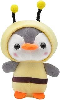 Anniston Plush Toy, Cute Penguin Bee Animal Plush Doll Pendant Keychain Ring Key Holder Bag Decor Ultra Soft Furry Stuffed Animal Plush Gifts for Kids Boys Girls Small Dogs