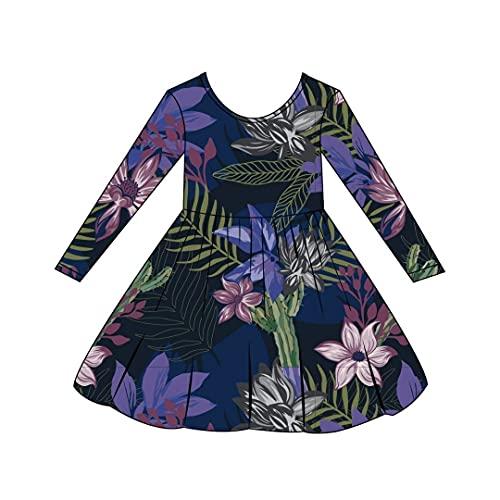 Lola & Taylor Toddler Ava Dress - Evening Florals Size 18-24 Months | Cotton