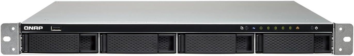 QNAP TS-463XU-RP-4G-US 1U 4-Bay AMD 64bit x86-based NAS and iSCSI/IP-SAN, Quad Core 2.0GHz, 4GB RAM, 4 x 1GbE, 1 x 10GbE (...