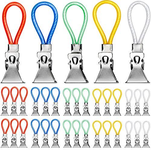 Kupink 30 Pezzi Clip per Appendere la Cucina Multifunzione 5 Colori Clip Strofinacci Cucina Clip Strofinacci per Calze Guanti Pantaloni Strofinacci