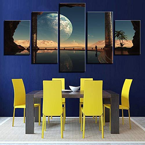 XLXBH 3D muurschildering zelf-hechtend wallpaper groot behang muurschilderij Hd Beauty Salon Tooling Background muurpaper, kinderkamer kantoor eetkamer woonkamer decoratieve muur kunst 400x280 cm (BxH) 8 Streifen - selbstklebend