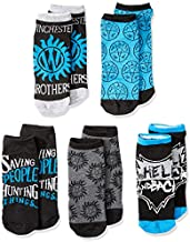 Supernatural Winchester Brothers 5 Pack Ankle Socks