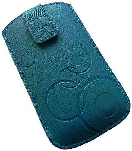 Handyschale24 Slim Case für Bea-Fon C60 Handytasche Türkis Schutzhülle Tasche Cover Etui mit Klettverschluss