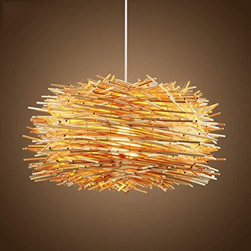 Pendant Lights Chandelier Rattan Art Bird's Nest Restaurant Bar Counter Bedroom Balcony Study Lamp