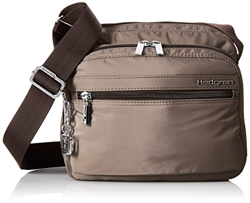 Hedgren Women's Inner City Metro Crossbody Bag with Organizer Panel, Padded Tablet, Key Leash and Phone Pocket, 9.4 x 4 x 8 Inches, Sepia Brown