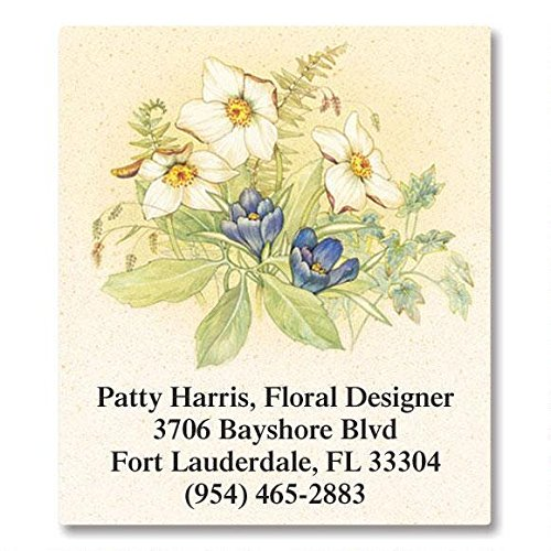 Magnificent Floral Self-Adhesive, Flat-Sheet Select Address Labels (12 Designs)