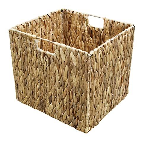 KMH®, Extra Grosse Korb-Box aus geflochtener Wasserhyazinthe (#204040)