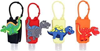 4Pcs Kids Empty Travel Bottle Hand Sanitizer Holder with Silicone Case Leak Proof Refillable Travel Containers, Liquid Soa...