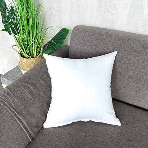 YQTYGB Funda de Cojín Set de 1,45x45cm Blanco, Blanca Funda de Almohada para Cojín Algodón Lino Decorativo,Funda de Cojín para Sofá Cama Hogar Coche,Interior, Exterior.