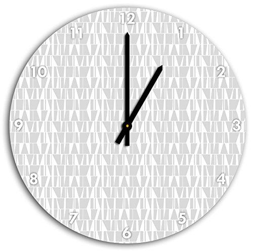 bibliothèque de modèle, horloge murale diamètre 48 cm avec aiguilles et cadran pointus blancs, article décoratif, horloge design, composite alu très belle pour le séjour, la chambre d'enfant, le bureau