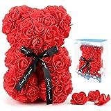 Rose Flower Bear for Anyone Love,Artificial Flowers Forever...