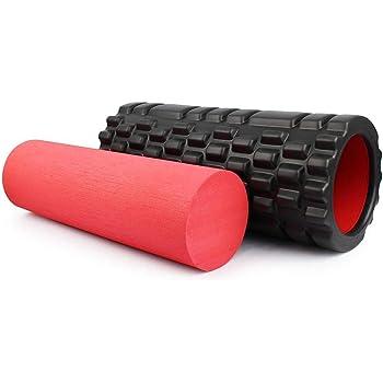 Rouleau de massage pour le corps et lesprit Rouleau de massage Fascia Roll Fitness Roll Roll Sport Roll Therapy Roll pour lauto-massage et lentra/înement du fascia ; 33 x 14,5 cm ; bleu-blanc .