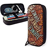Turner - Apellido americano Estuche de cuero de alta capacidad Estuche para lápices Organizador de papelería Organizador Bolígrafo de maquillaje Bolso de viaje