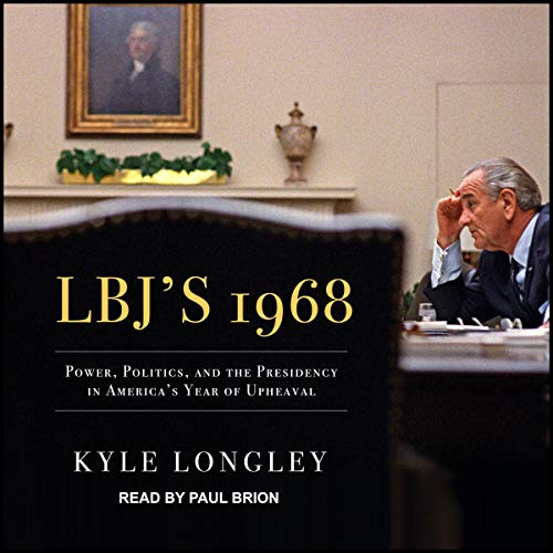 LBJ's 1968 audiobook cover art