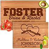 Personalized Cutting Board Wedding Gifts for the Couples, 14 Monogram Designs, Multiple Wood Types, Best Presents for Parents, Best Friends, Brother