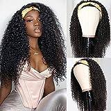 UNice Fashion Afro Kinky Curly Half Wigs Human Hair for Black Women, 100% Unprocessed Brazilian Virgin Hair Glueless Wear and Go Wig 150% Density 16inch