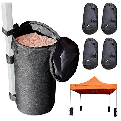TOOLPORT Gewichtstaschen 4er Set Beschwerungssäcke für Faltzelt, Gewichte zum Befüllen mit z.B. Sand (je 25 kg), wasserfestes Oxford-Material, 52x31 cm (ohne Füllung)