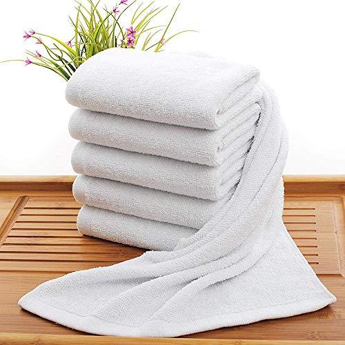 OJPOGHU Toallas de baño - Tablas Grandes, 100% algodón, 2 Piezas por Juego Color : White, Size : 60g(32 * 70)