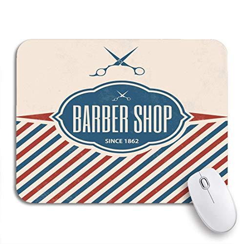 Gaming mouse pad pole retro barber vintage barbershop salon zeichen schere haar rutschfeste gummi backing mousepad für notebooks computer maus matten