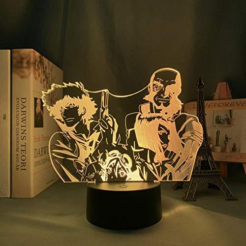 3D Led Nattlampa Talbe Illusion Lampa Anime Cowboy Bebop För Sovrum Dekorativa Barn Barn Födelsedag Manga Cowboy Bebop Säng-Med Fjärrkontroll