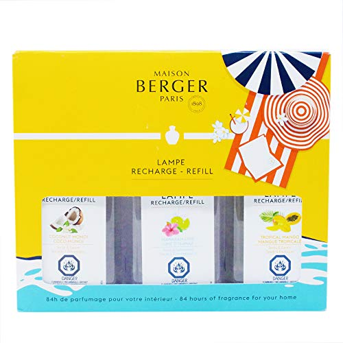 Lampe Berger Fragrance Trio Refill for Home Fragrance Oil Diffuser - 3x6.08 Fluid Ounces - 3x180 milliliters (Trio Blissful)