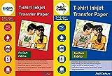 Full Colors 120 GSM T-Shirt Inkjet Transfer Paper Dark Fabrics