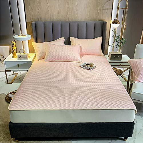 GTWOZNB Snugly Around Your Mattress Hypoallergenic, Breathable Bed Sheets Are Oh-So-Soft Mattress mat-cream powder_180*200cm