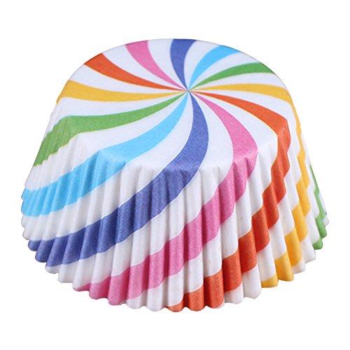Kentop Lot de 95 100 Feuilles de Papier pour Muffins et Muffins 5 * 3.2cm Style - 5