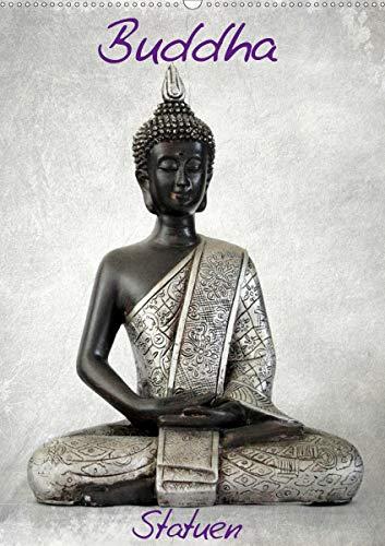 Buddha Statuen (Wandkalender 2021 DIN A2 hoch)
