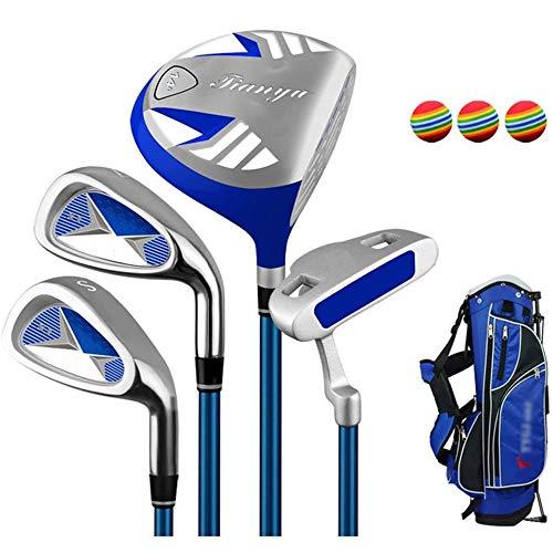 YQQWN Golf-Eisen-Golf-Putter Übungsschläger-Set für 3-12 Jahre Alten Kinder Kids Golf Anfänger Golfschläger-Set, Kinder Right Hand Gebrauchte Golfschläger-Set mit 3 Golfbällen,Carbon Rod