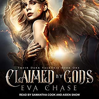 Claimed by Gods: A Reverse Harem Urban Fantasy     Their Dark Valkyrie Series, Book 1              By:                                                                                                                                 Eva Chase                               Narrated by:                                                                                                                                 Samantha Cook,                                                                                        Aiden Snow                      Length: 7 hrs and 7 mins     17 ratings     Overall 4.5