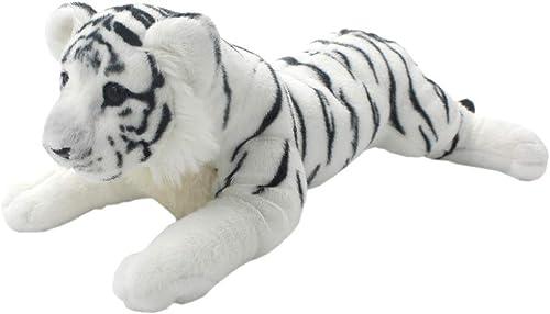 apresurado a ver MINICARS blanco tigron Tigre Cachorro acostado Juguete Suave Realista Realista Realista (60 cm)  artículos de promoción