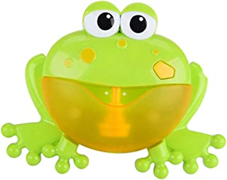 Homyl Baby Toddlers Bath Bubble Toy Frog Blower Bubble Machine Maker with Nursery Rhyme Bathtub Toys for Infant Children K...