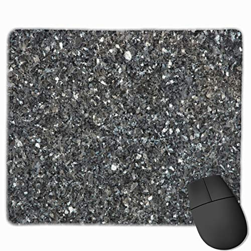 Silver Flake Glitter Personalized Mouse Pad - Add Pictures, Text, Logo Or Art Design and Make Your Own Customized Mousepad.11.8 X 9.8 Inch