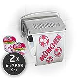 Klopapier Münchner Abpfiff (2 Rollen Sparpack)   Dieses Toilettenpapier Macht das Klo von S04-, Dortmund- & Fußball-Fans zur Bayern-Kultschüssel   Geschenkidee für Männer & Freunde