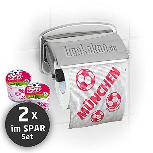 Klopapier Münchner Abpfiff (2 Rollen Sparpack) | Dieses Toilettenpapier Macht das Klo von S04-, Dortmund- & Fußball-Fans zur Bayern-Kultschüssel | Geschenkidee für Männer & Freunde
