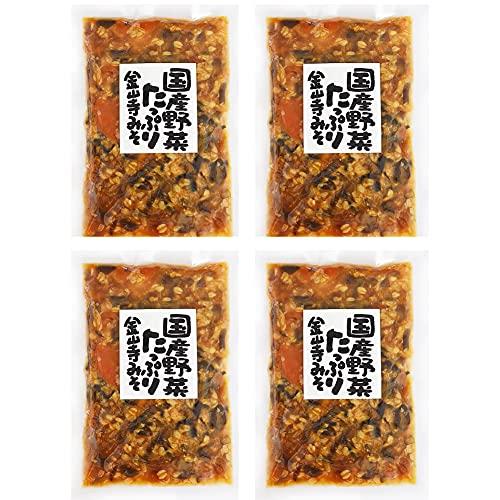 野菜たっぷり金山寺みそ 【4袋組】 国産原料使用 金山寺味噌 金山寺みそ おかず味噌
